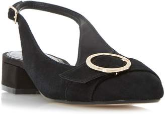 Dune LADIES COMO - Round Buckle Slingback Court Shoe