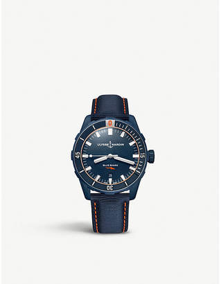 Ulysse Nardin Diver stainless steel and fabric watch