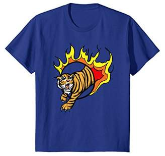 Roaring Tiger: Fierce Fire Ring T-Shirt