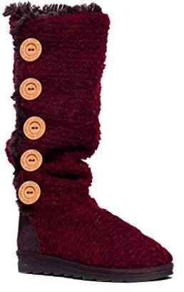 Muk Luks Women's Malena Crotchet Button Up Boot