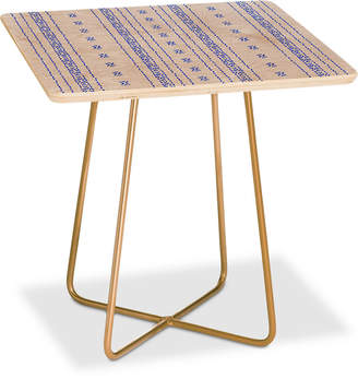 Deny Designs Holli Zollinger Boho Stripe Square Side Table