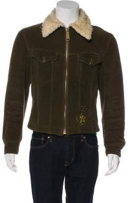 Dolce & Gabbana Fur-Lined Corduroy Jacket