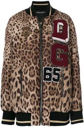Dolce & Gabbana leopard print bomber jacket