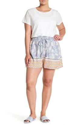 Angie Floral Tassel Tie Shorts (Plus Size)