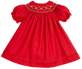 Luli & Me Smocked Bishop Puffy-Sleeve Dress, Size 3-24 Months