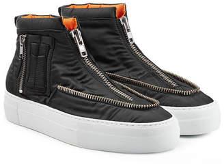 Joshua Sanders Fabric Sneakers with Zippers