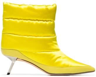 Ballin Alchimia Di Yellow Daphne 55 Satin Puffer Boots
