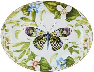 Mackenzie Childs Thistle and Bee Serving Platter (40cm)