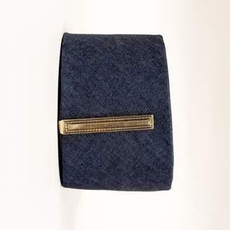 Blade + Blue Vintage Anson Goldtone Etched Rope Tie Clip