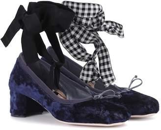 Miu Miu Velvet ballerina pumps
