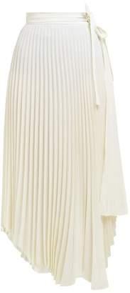 A.W.A.K.E. Mode Stephanie Pleated Wrap Skirt - Womens - Ivory