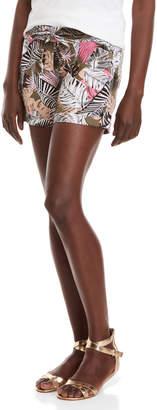 Per Se Linen Drawstring Shorts