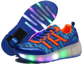 Heelys A2kmsmss5a KIDS Girls Heelies Wheels SKATE ROLLER SHOES LED Lights Up Retractable ( -)