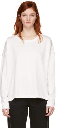 Studio Nicholson White Long Sleeve Loop T-Shirt