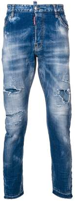 DSQUARED2 bleached denim jeans