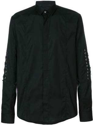 Les Hommes lace long-sleeve shirt