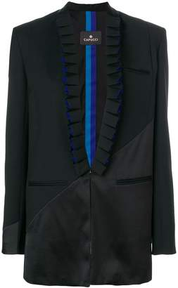 Capucci pleated lapel blazer