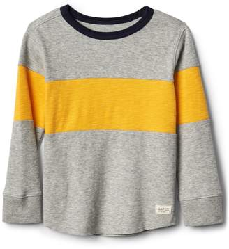 Gap Chest-stripe waffle knit tee