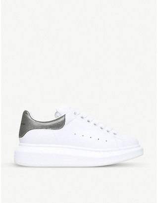 Alexander McQueen White and Black Runway Leather Sneakers