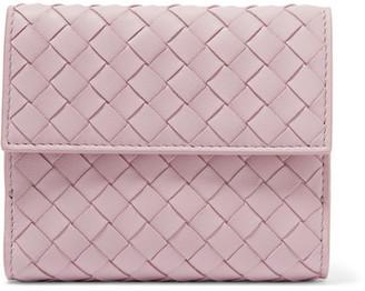 Bottega Veneta - Intrecciato Leather Wallet - Antique rose $550 thestylecure.com