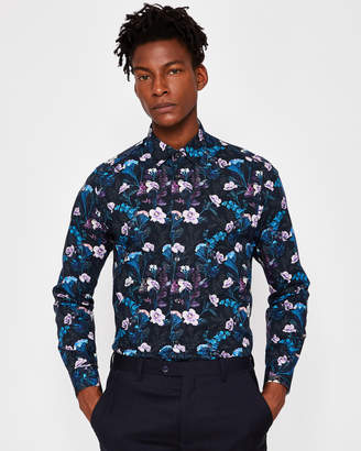 Ted Baker PINTO Floral print cotton shirt