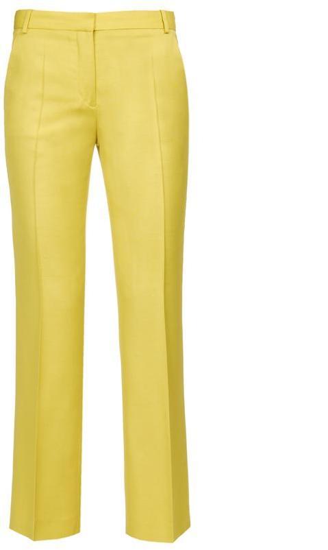 STELLA MCCARTNEY Slubbed viscose trousers