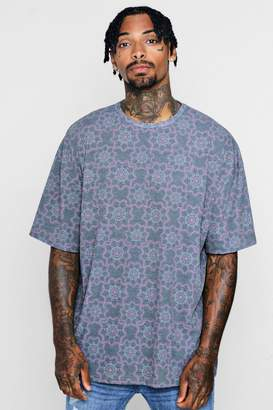 boohoo Oversized Faded Moroccan Festival T-Shirt
