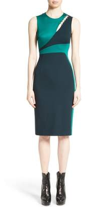 Women's Versace Collection Staple Detail Cutout Dress