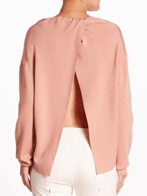 Theory Twylina Merino Wool Open-Back Sweater $365 thestylecure.com