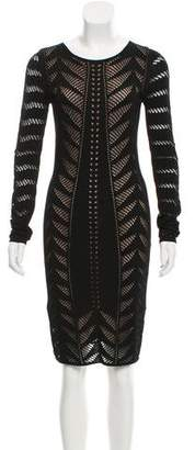Temperley London Open Knit Sweater Dress