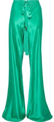 Roberto Cavalli Silk-Satin Wide-Leg Pants