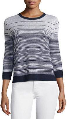 Theory Rainee P Prosecco Multi-Striped Sweater $245 thestylecure.com