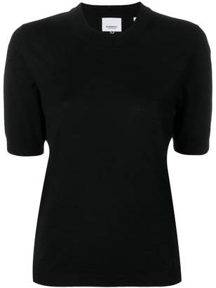 Burberry rear embroidered logo top