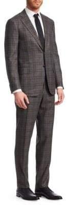 Isaia Wool Plaid Suit
