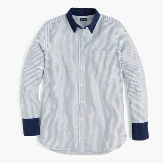 J.Crew Classic-fit shirt in mixed denim stripe