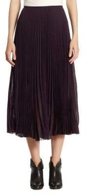 Akris Pleated Midi Skirt