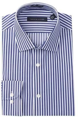 Tommy Hilfiger Striped Twill Slim Fit Dress Shirt