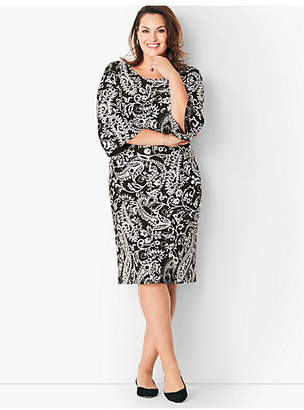 Talbots Crepe Shift Dress - Paisley