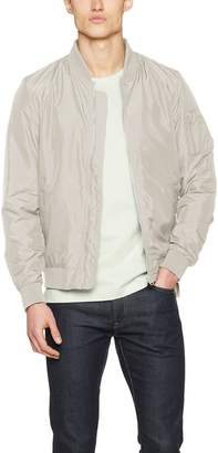 Urban Classics Light Bomber Jacket for Men TB1258, Single-Color Jacket for Spring and Summer-time, Sand