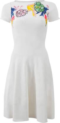 Blumarine Embroidered Knit Dress