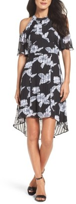 Women's Julia Jordan Print Cold Shoulder Dress $138 thestylecure.com