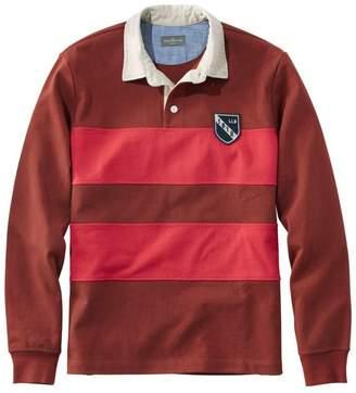 L.L. Bean L.L.Bean Signature Classic Rugby Shirt, Long-Sleeve Stripe