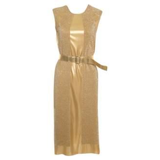 Bottega Veneta Gold Dress for Women