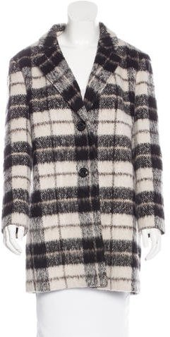 Kate Spade Kate Spade New York Plaid Notch-Lapel Coat