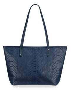 GiGi New York Taylor Snake-Embossed Leather Tote Bag