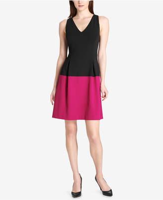 Tommy Hilfiger Colorblock Scuba Crepe Dress