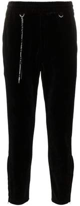 Mastermind Japan logo print cotton blend velour sweat pants