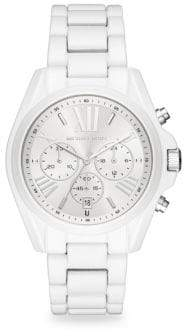 Michael Kors Bradshaw Chronograph White Stainless Steel Bracelet Watch