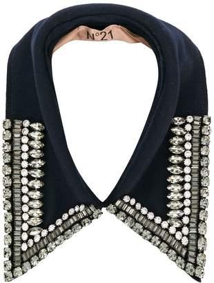 No.21 embellished collar