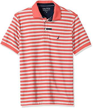 Nautica Men's Classic Short Sleeve Stripe Polo Shirt